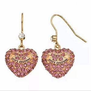 Juicy Couture Dangle Heart Earrings